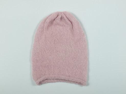 Prosta czapka kolor różowy