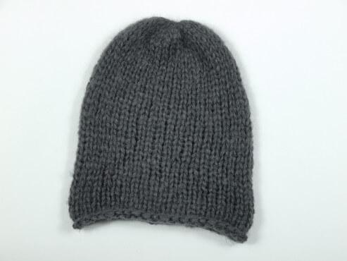 Prosta gruba czapka kolor antracyt