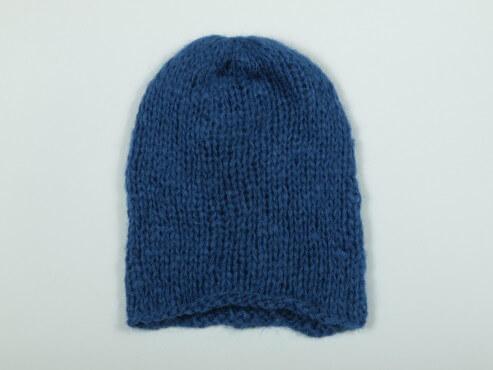 Gruba czapka kolor atrament